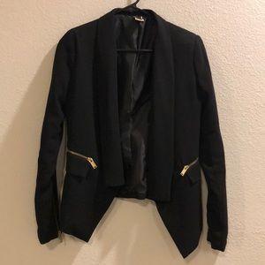 Jackets & Blazers - Black blazer with zipper accents